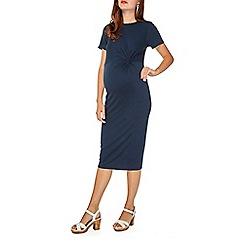 Dorothy Perkins - Maternity navy tuck side bodycon dress