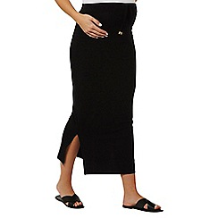 Dorothy Perkins - Maternity black toggle maxi skirt