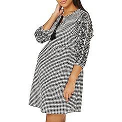 Dorothy Perkins - Maternity black gingham broiderie skater dress