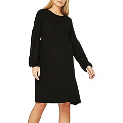 Dorothy Perkins - Maternity black soft touch balloon sleeve shift dress