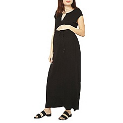 Dorothy Perkins - Maternity black jersey maxi dress