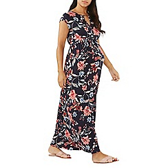 Dorothy Perkins - Maternity navy floral print maxi dress