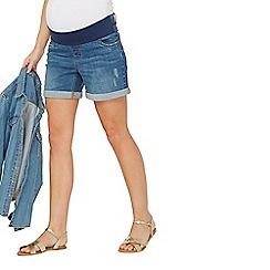 Dorothy Perkins - Maternity mid wash under bump shorts