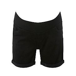 Dorothy Perkins - Maternity black under bump shorts