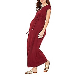 Dorothy Perkins - Maternity port red jersey maxi dress