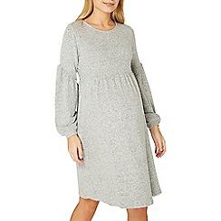 Dorothy Perkins - Maternity grey soft touch balloon sleeve dress