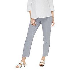 Dorothy Perkins - Maternity blue gingham ankle grazer trousers