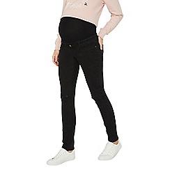 Dorothy Perkins - Maternity black rip knee skinny jeans
