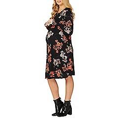 Dorothy Perkins - Maternity blossom print ruffle sleeve shift dress