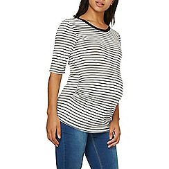 Dorothy Perkins - Maternity monochrome stripe v-back top