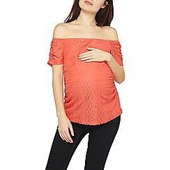 Dorothy Perkins - Maternity coral lace bardot top