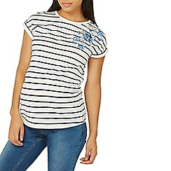 Dorothy Perkins - Maternity navy and ivory striped t-shirt