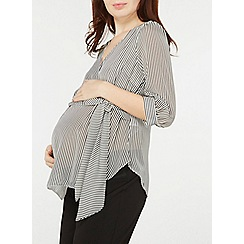 Dorothy Perkins - Maternity monochrome striped tie front top