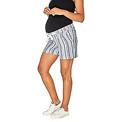 Dorothy Perkins - Materntiy multi coloured textured linen shorts