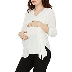 Dorothy Perkins - Maternity ivory tie side wrap top