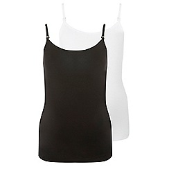 Dorothy Perkins - Maternity 2 pack black and white camisole top