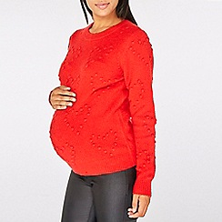 Dorothy Perkins - Maternity red heart jumper