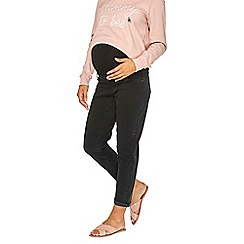 Dorothy Perkins - Maternity black under bump washed boyfriend jeans