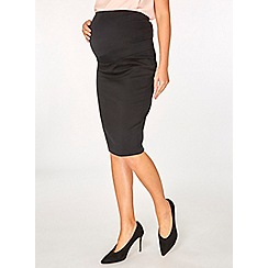 Dorothy Perkins - Maternity black over bump bengaline skirt