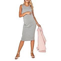 Dorothy Perkins - Maternity grey sleeveless bodycon dress