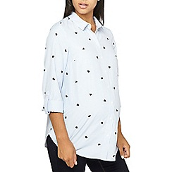 Dorothy Perkins - Maternity blue heart embroidered striped shirt