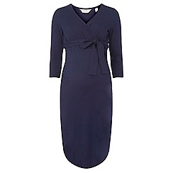 Dorothy Perkins - Maternity navy ruched wrap dress