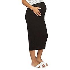 Dorothy Perkins - Maternity black midi bodycon skirt