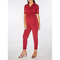 Dorothy Perkins - Maternity wine tux wrap jumpsuit