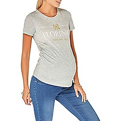 Dorothy Perkins - Maternity grey florence motif t-shirt