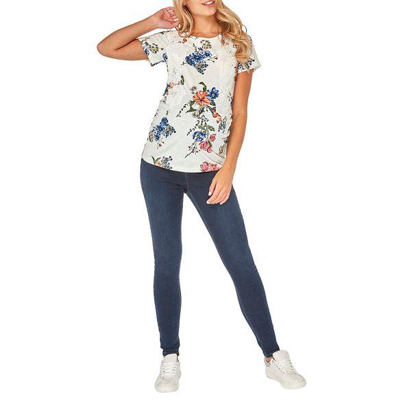 Dorothy print shirt floral Maternity Perkins lace t ivory rqwrzTU