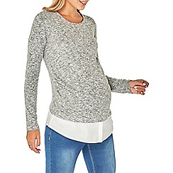 Dorothy Perkins - Maternity grey brushed 2-in-1 jumper