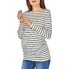 Dorothy Perkins - Maternity striped long sleeve horn button top