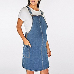 Dorothy Perkins - Maternity Midwash Denim Pinafore Dress