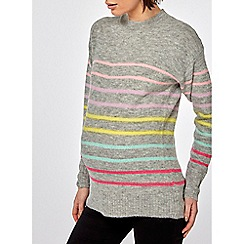Dorothy Perkins - Maternity grey candy striped jumper