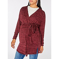 Dorothy Perkins - Maternity burgundy brushed cardigan