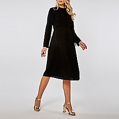 Dorothy Perkins - Maternity black manipulated knot skater dress