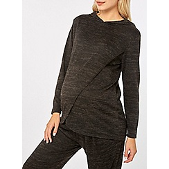 Dorothy Perkins - Maternity charcoal brushed hoodies