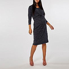Dorothy Perkins - Maternity navy brushed manipulated dress
