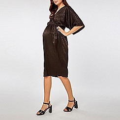 Dorothy Perkins - Maternity black jacquard kimono style shift dress