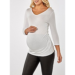 Dorothy Perkins - Maternity ivory v-neck t-shirt