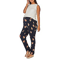 Dorothy Perkins - Maternity navy floral woven joggers