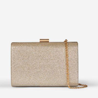 Dorothy Perkins   Gold Box Clutch Bag by Dorothy Perkins