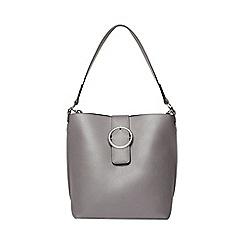 Dorothy Perkins - Grey buckle hobo shopper bag