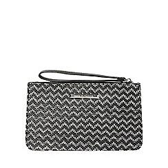 Dorothy Perkins - Monochrome weave zip top wristlet