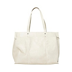 Dorothy Perkins - Cream triple compartment tote bag