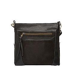 Dorothy Perkins - Black small zip messenger bag