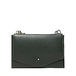 Dorothy Perkins - Dark green double pouch cross body bag