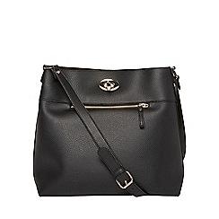 Dorothy Perkins - Black lock unlined cross body bag