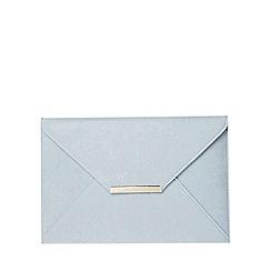 Dorothy Perkins - Light blue envelope clutch bag