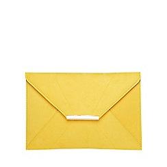 Dorothy Perkins - Yellow envelope clutch